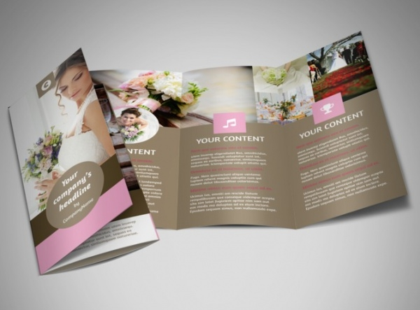Wedding Florists Tri-Fold Brochure