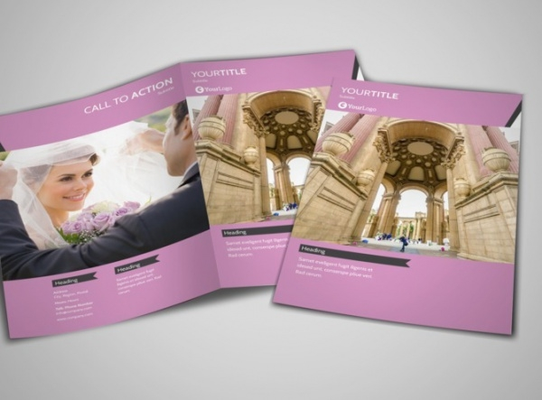 Wedding Service Venue Brochure Design