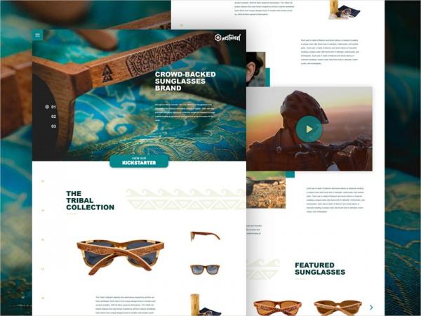Westwood Sunglasses Concept Mockup