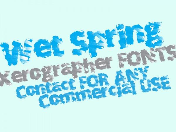 Wet Spring Font