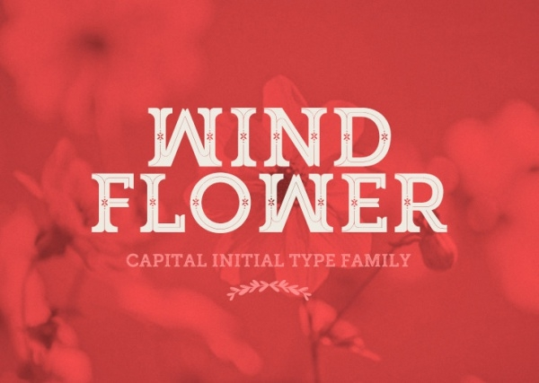Wind Flower Font Idea