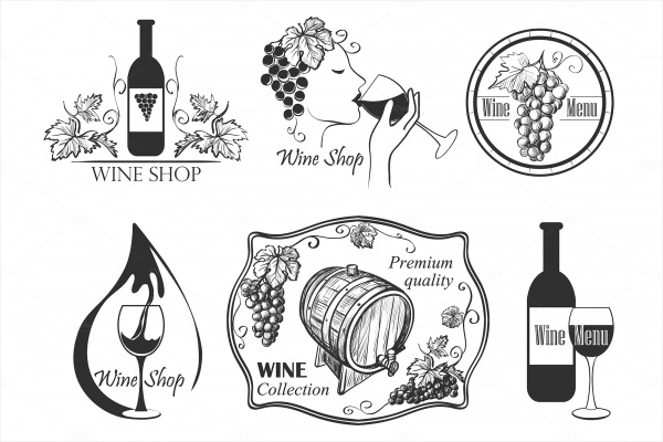 Wine Labels Collection Design