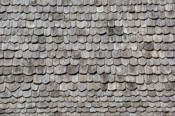 Wood roofing pattern