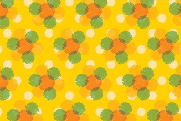 Yellow Dot Pattern Vector