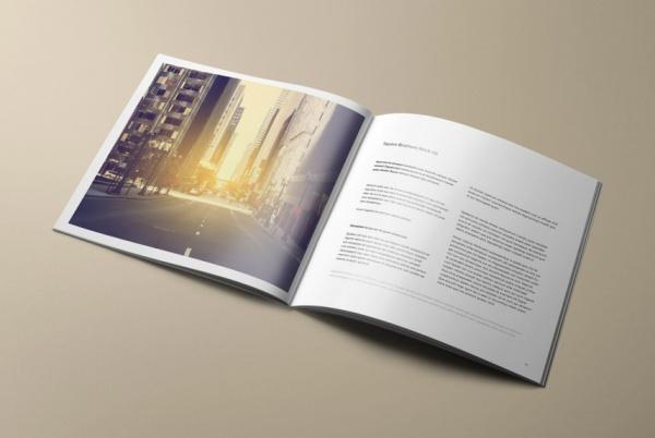 beautiful Square Brochure Mockup