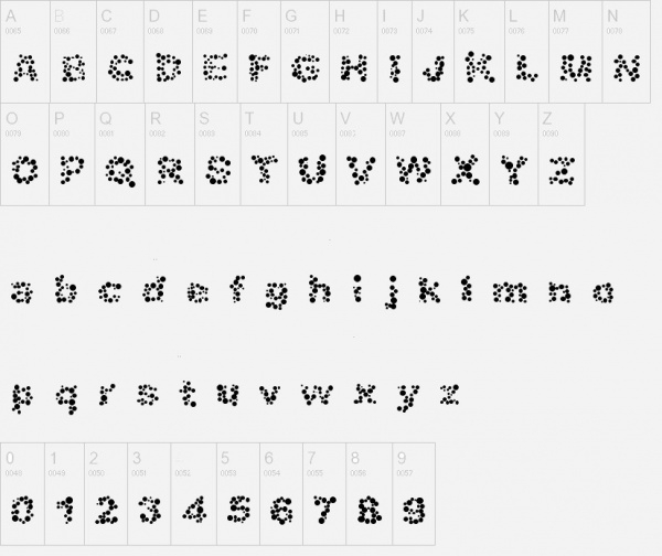 bubble alphabet fonts