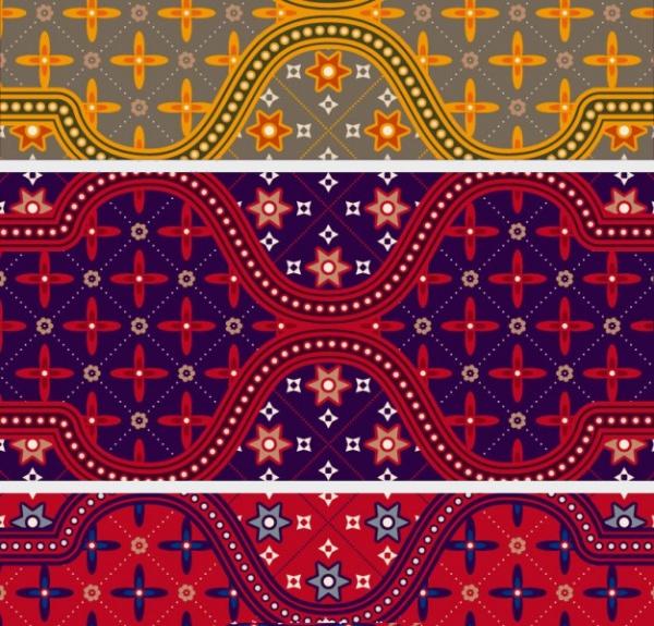 colorful batik pattern illustrator