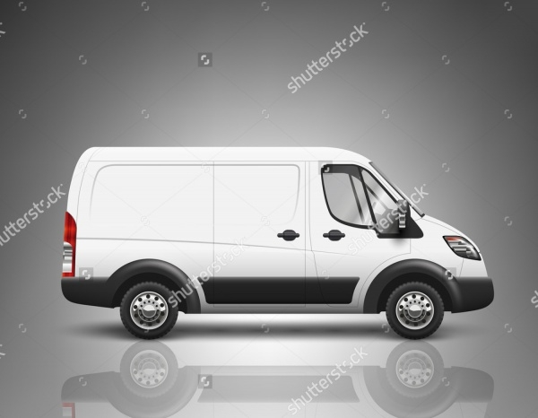 corporate Transport VanMockup