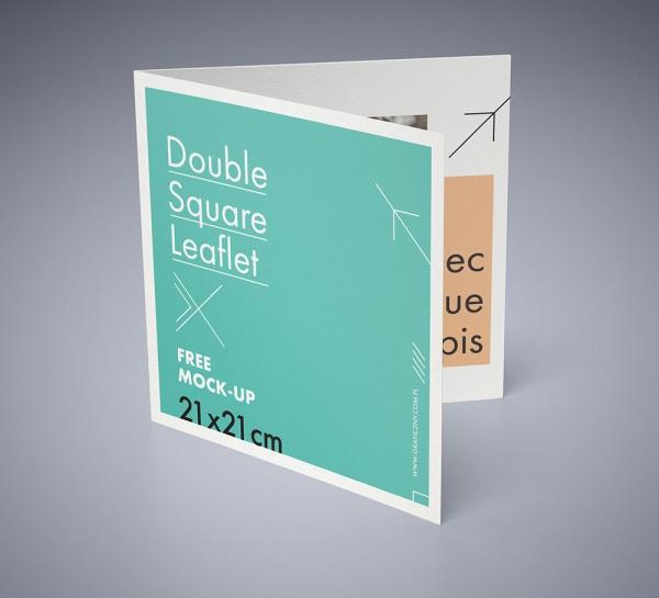 21  square brochure mockups