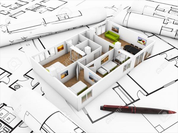 Flat Inter Design Concept Mock Up
