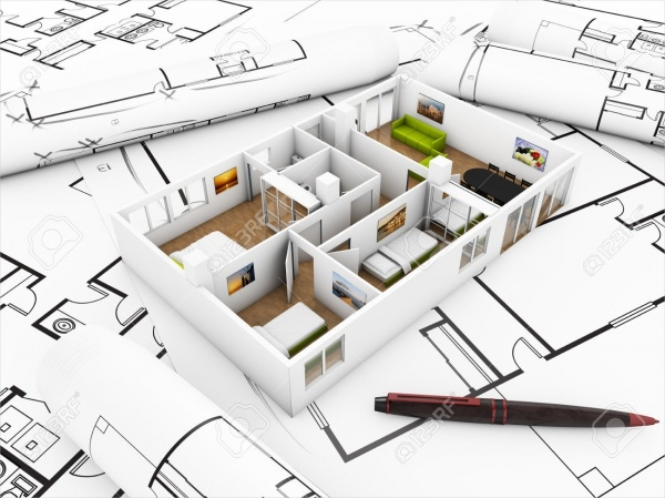 flat inter design concept mockup