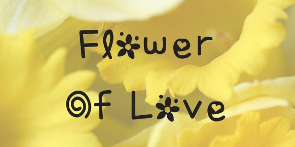flower text symbol font