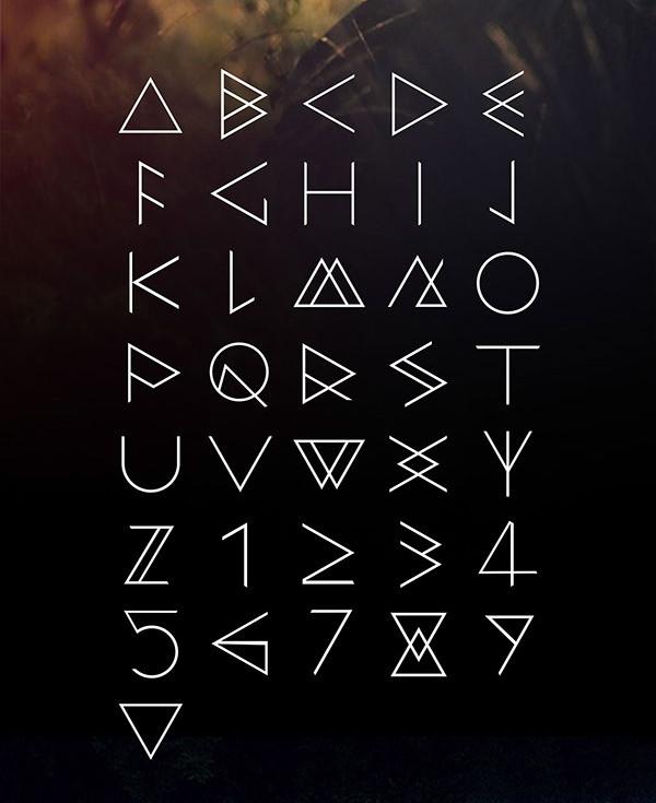 geometric light font
