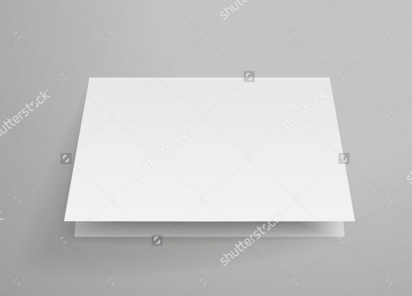 isolated Half Folded Mockup