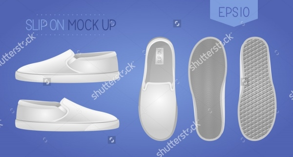 Blank slip-on shoes mock up