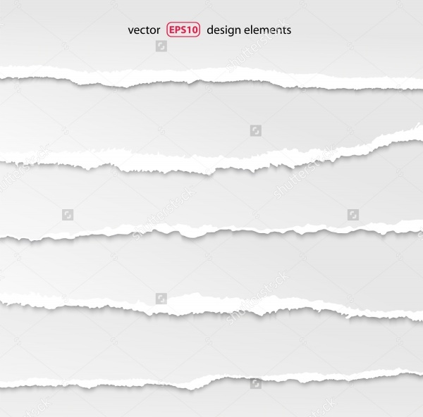 layered torn paper vector