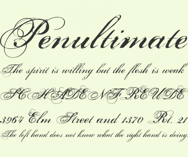 masculine cursive font