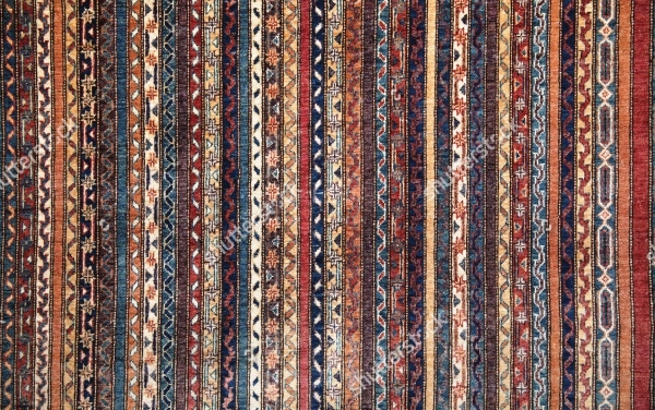 pattern on a turkish or persian carpet