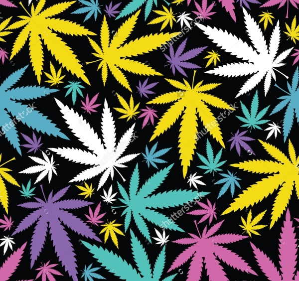 seamless Foilage Weed Pattern