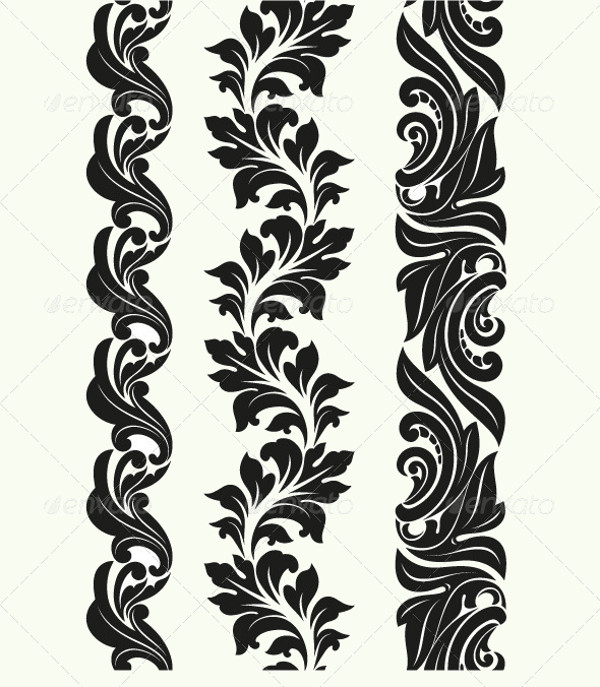 seamless patterns in Baroque style