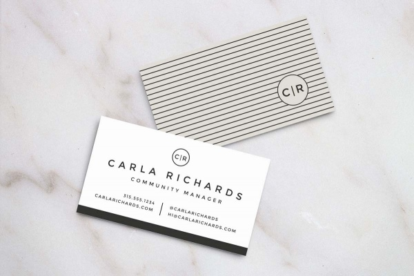 sophisticated Modern business card design