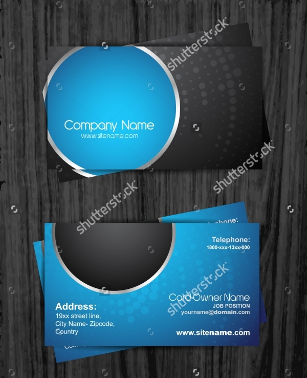 stylish dark business card