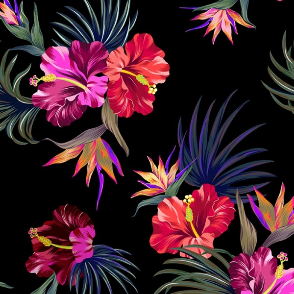 tropical patterns for fashion and interior