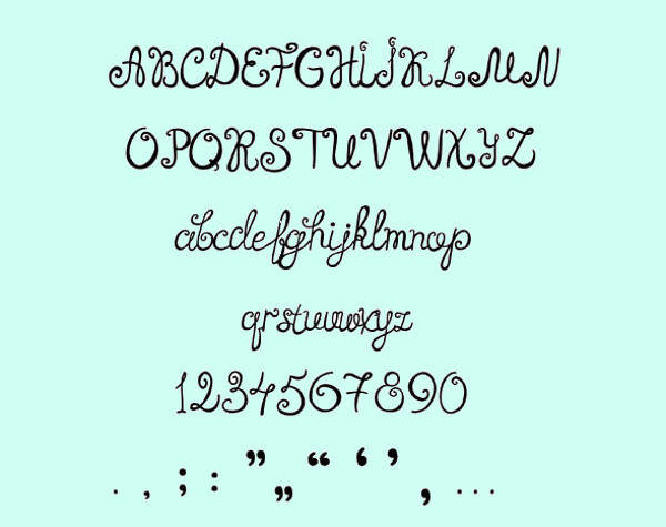 wedding Hand-Written Font