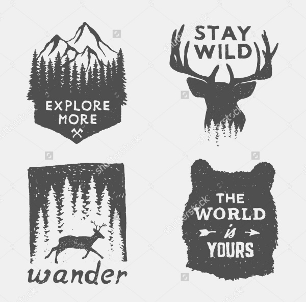 wilderness hand drawn Hipster