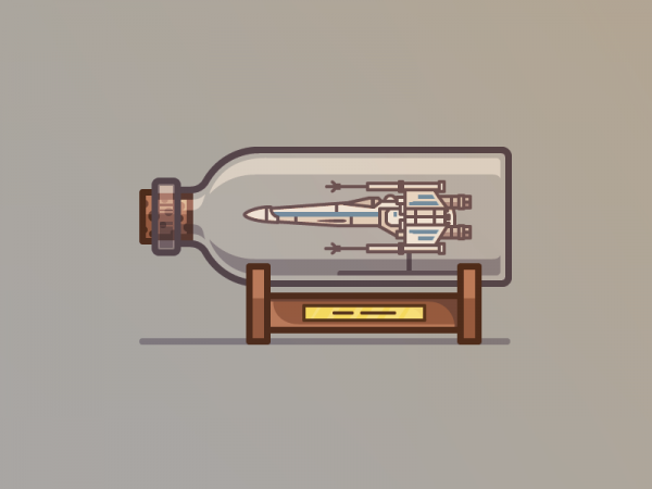 x-wing in a bottle Vector