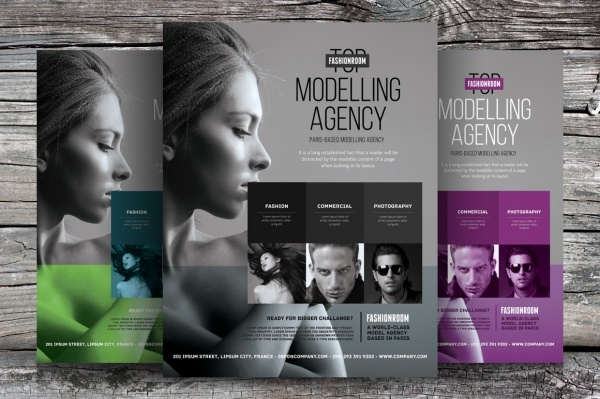 Model Agency Flyer for Advertising