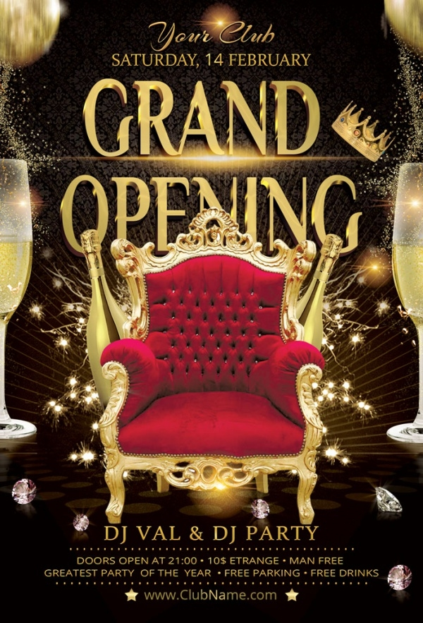 30 Grand Opening Flyers Psd Vector Eps Jpg Download