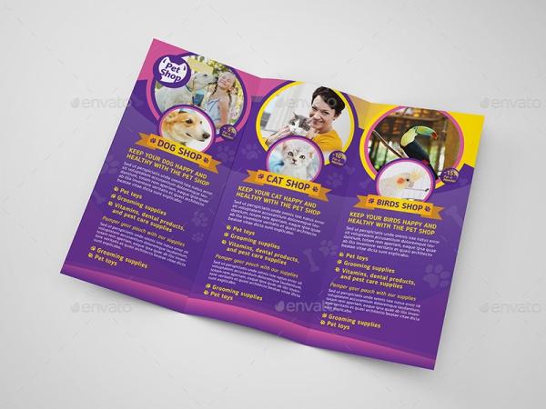 Realistic Pet Brochure Design