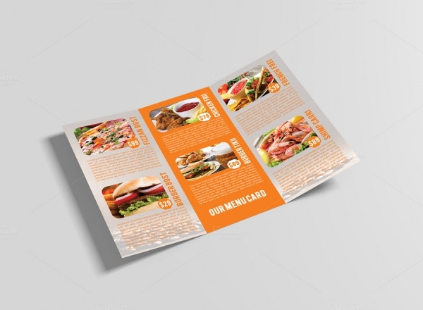 Catering Brochure Template Design