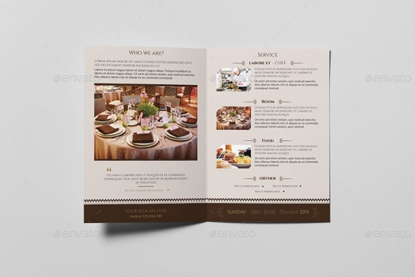 Catering Bi Fold Brochure Design