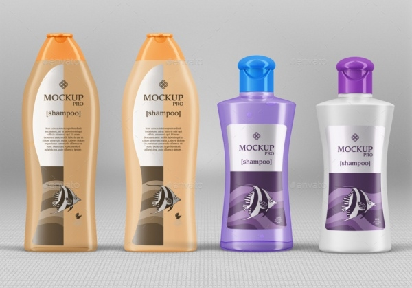 10 Shampoo Bottle Mockups