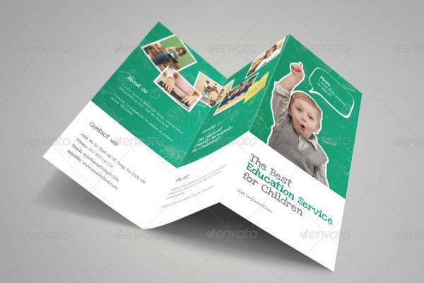 Kindergarten Half Fold Brochure