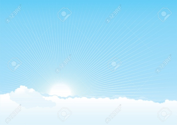 Sun and Beams Vector background
