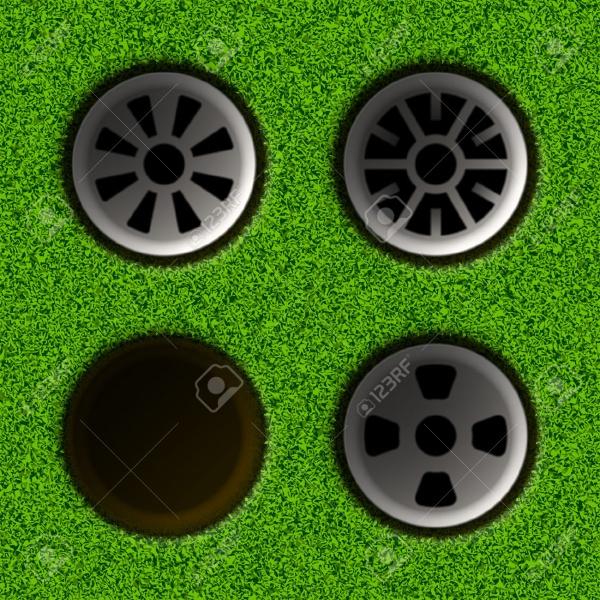 Golfing Grass Circle Vector