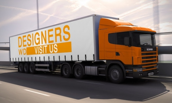 3D Truck Vehicle Mock-up