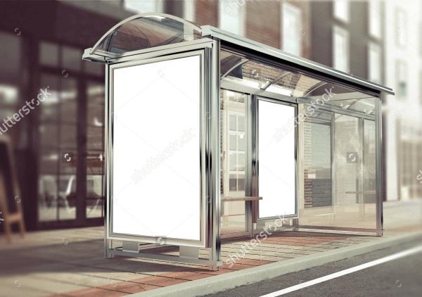 3d rendering of bus stop mockup1