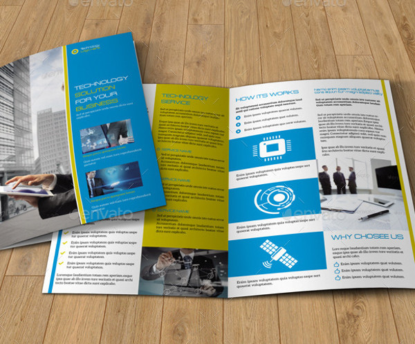 4 page technology brochure design