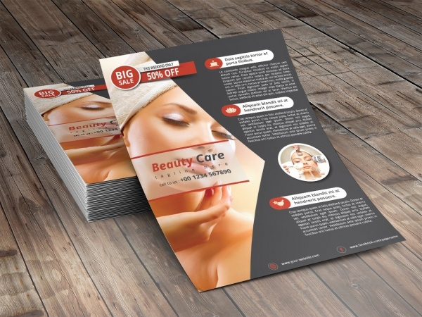 InDesign Cosmetic Modern Flyer