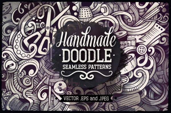 5 Handmade Doodles Patterns