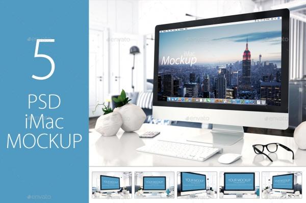 5 PSD Mock-up iMac
