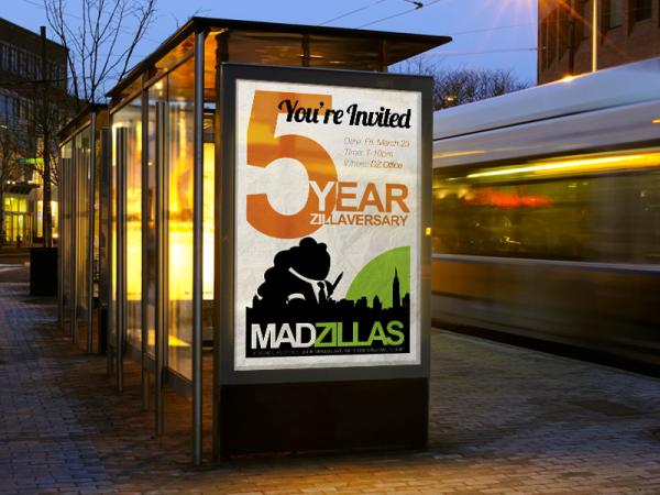 5 Year Zillaversary Invitation Brochure