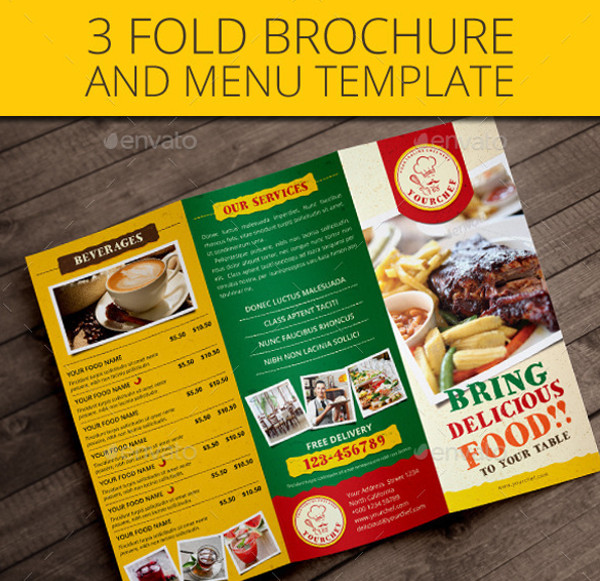 A4 Catering Creative Brochure