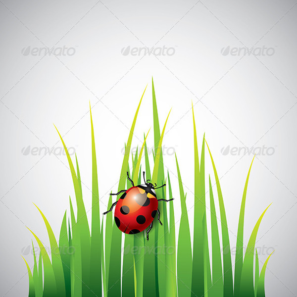 Abstract Grass Vector Design
