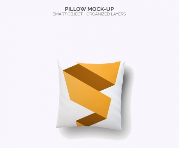 Abstract Pillow PSD Mockup