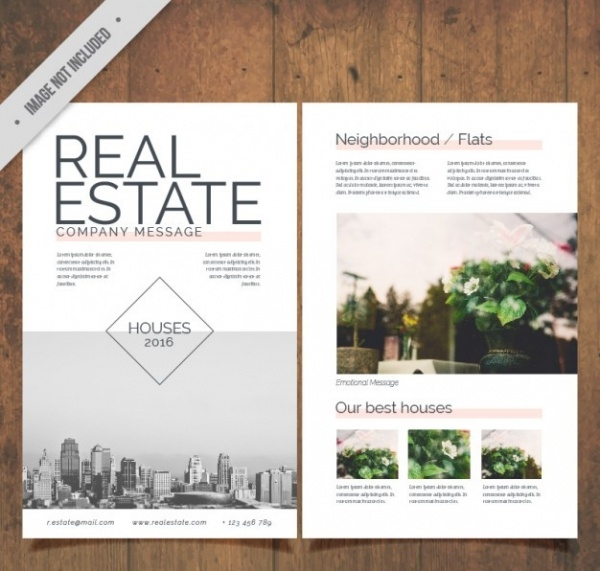Abstract Real Estate Flyer